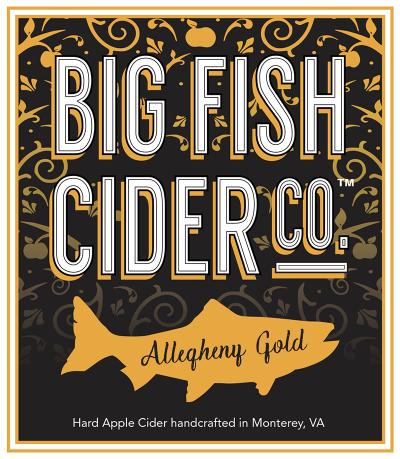 Label - Big Fish Cider Co. - Allegheny Gold