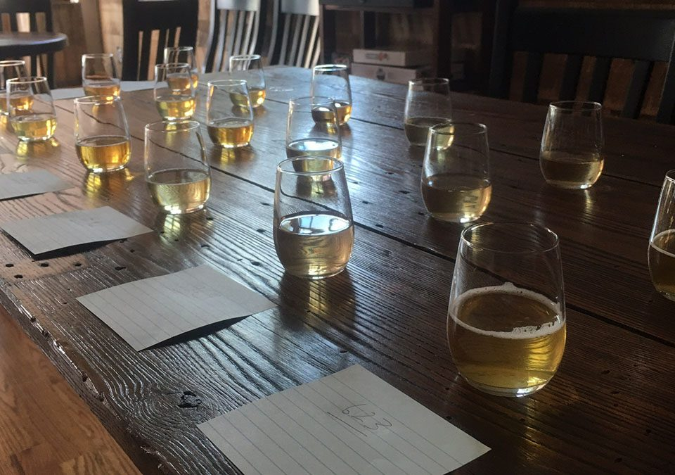 Featured: Tumblers with cider for tasting competition