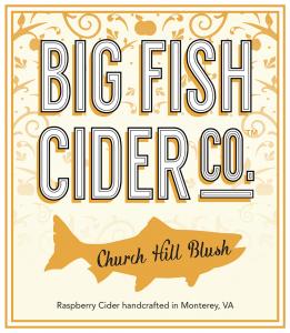 Label - Big Fish Cider Co. - Church Hill Blush