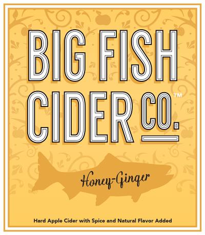 Label - Big Fish Cider Co. - Honey-Ginger